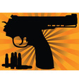 Correct pistol and cartridges vector