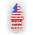 Christmas tree with the american flag vector