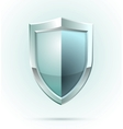 Blank shield security icon vector