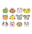 Set of cute cartoon animals and birds vector