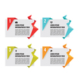 Origami banners - infographic concept vector