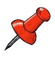 Drawing pin vector