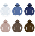Plain training hoodie template vector