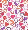 Hears seamless pattern love valentine and wedding vector