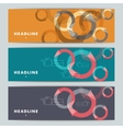 Set of abstract banners with hands and arrows vector