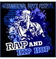 Rap hip hop graffiti - poster vector