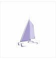 Sailing boat vector