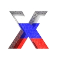 Russian cutted figure x paste to any background vector