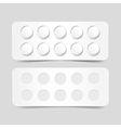 Blank pack of pills isolated on background vector