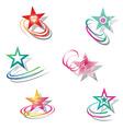 Star design elements set vector