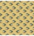 Vintage cartoon birds pattern vector
