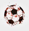 Dirty soccer ball vector