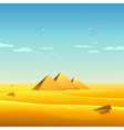 Egyptian pyramids vector
