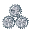 Cog gears mechanism vector