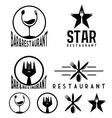 Set of vintage cafe and restaurant emblems vector