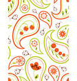 Floral paisley seamless vector
