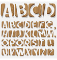 Wooden 3d alphabet vector
