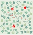 Set web icons pudlock and chain seamless vector