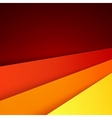Red orange and yellow paper layers abstract vector
