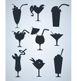 Summer drinks silhouettes vector