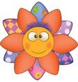 Happy cartoon flower sun soft toy vector