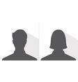Male and female avatar profile picture silhouette vector