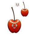Happy ripe red cherry vector