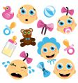 Baby face icon vector