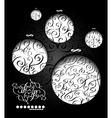 Creative christmas balls with calligraphic vector