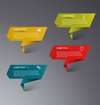 Info graphic colored folded paper template vector