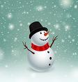 Beauty snowman vector