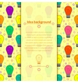 Background with light bulb in flat style vector