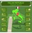 Italian republic infographics statistical data vector