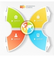 Business infographics four stages with icons vector