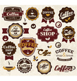 Collection of vintage retro coffee stickers badges vector