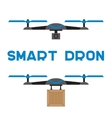 Flat quadrocopters icons vector
