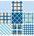 Set of plaid patterns vector