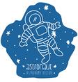 Astronaut drawn vector