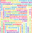 Colorful background with bank terms vector