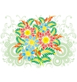 Bouquet from abstract flowers with background vector
