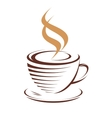 Cup of hot steaming coffee vector