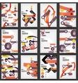 Set of flyers brochure design templates vector