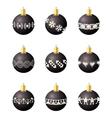 Christmas decoration balls vector