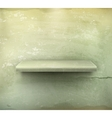 Empty shelf vintage background vector