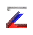 Russian cutted figure z paste to any background vector