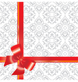 Gift background with bow and r vector