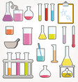Chemical test tubes vector