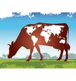 Cow earth vector
