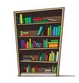 Cartoon of a bookshelf vector