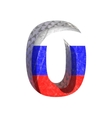 Russian cutted figure 0 paste to any background vector